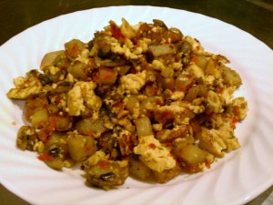 Potato Hash Vegatable Tofu Scramble