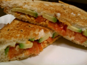 Grilled Cheese, Avocado & Tomatoes